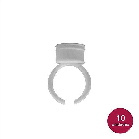 Pacote Anel Descartável Branco - 10 Unid.