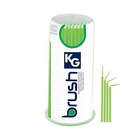 Aplicador Descartável KG BRUSH Extra Fine - Verde