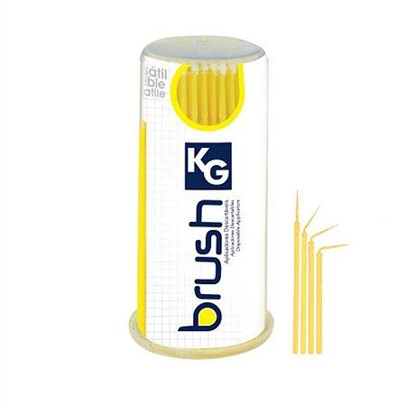 Aplicador Descartável KG BRUSH Regular - Amarelo