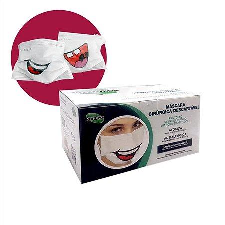 Caixa de Máscara Sorriso 50 unid. - ProtDesc