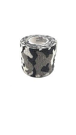 Fita Elástica Antiderrapante camuflagem cinza 5cm x 4,5m