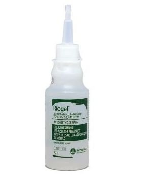 Álcool gel 70% antisséptico 90g - Rioquímica