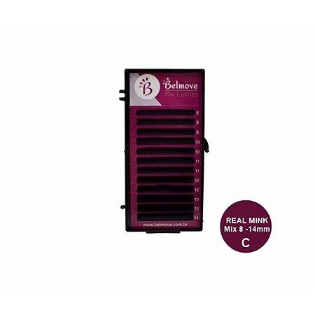 Cílios Real Mink Mix 12 fileiras C 0,15 - 8 ao 14mm