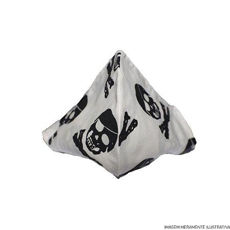 Máscara de Tecido 100% Algodão Estampa Caveira