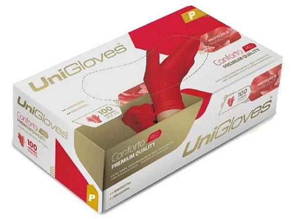 Luva Latex Sem Po Vermelha Red Unigloves - P