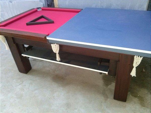 mesa de bilhar com ping pong