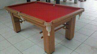 Mesa de Bilhar modelo 01 Angelim - Com Adornos - 2,30 x 1,30 m