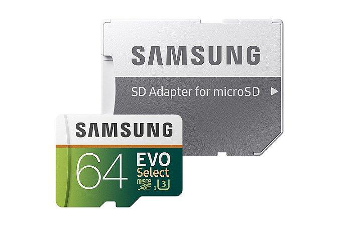 MicroSD Cartão de Memória - 64GB - Samsung EVO