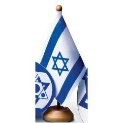 Bandeira de Mesa - Israel - Ahavat Camisas Personalizadas 00a88ea409ced