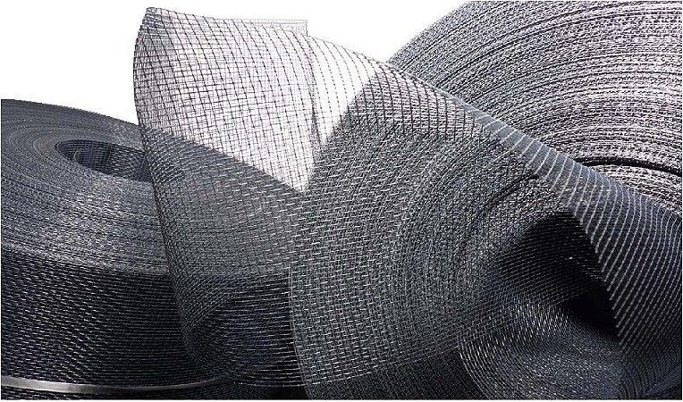 Tela de Fibra de Vidro em PVC - Cinza