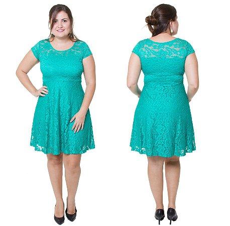 Vestido Estilo Fino Moda Plus Size Renda