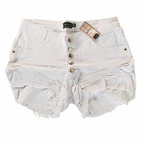 Shorts Branco Destroyed