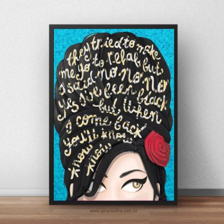 Placa Decorativa Amy Wine House