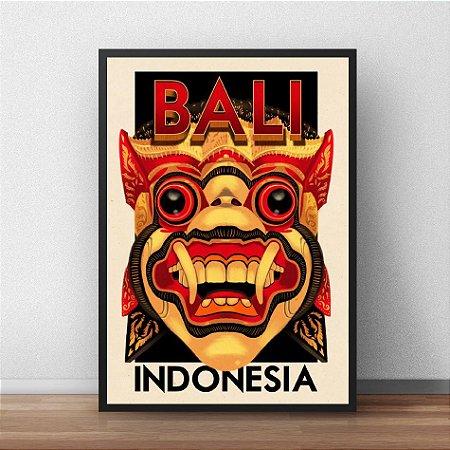 Placa Decorativa Bali Indonésia