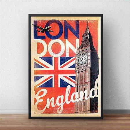 Placa Decorativa Londres