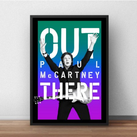 Placa Decorativa Out There Paul McCartney