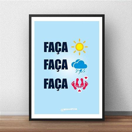 Placa Decorativa Faca chuva ou faca sol