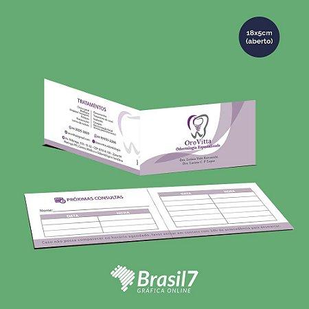 Cartão Duplo - couche 250g - 4x4 - verniz total frente - 18x5cm