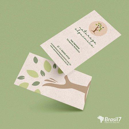 Cartão de visita em papel ecológico reciclado