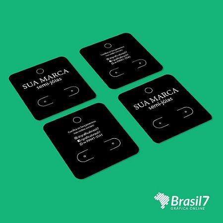 Cartela de Bijuteria Tag Brinco Personalizado