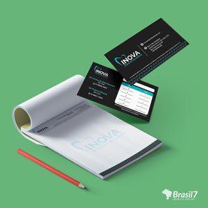 Kit Consultório 1 - Receituário + cartão de visitas