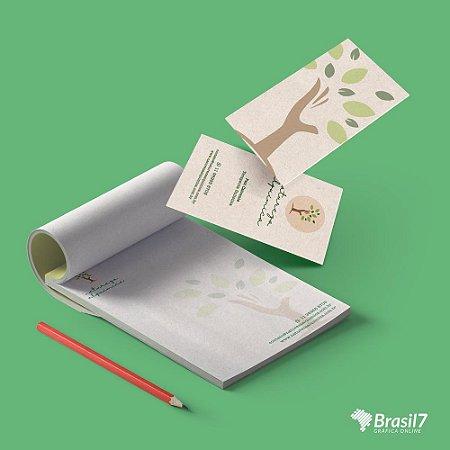 Kit Consultório 2 - Receituário + cartão de visitas (Ecológico)