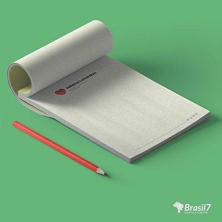 Receituários, recibos e blocos em papel reciclado