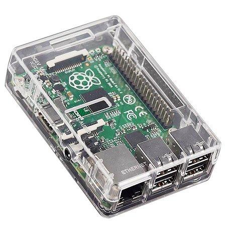 Case ABS Transparente para Raspberry Pi2/B+/Pi3