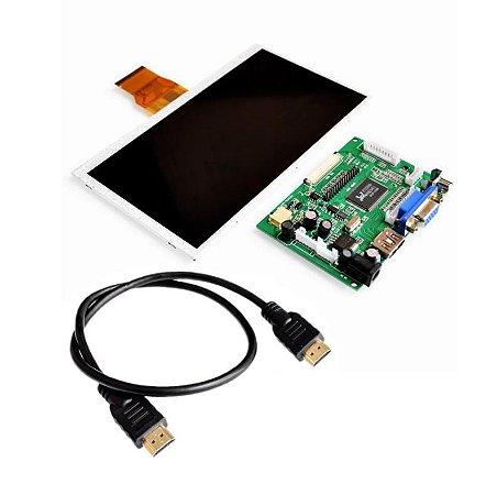 "LCD 7"" Raspberry Pi 3 HDMI e VGA"