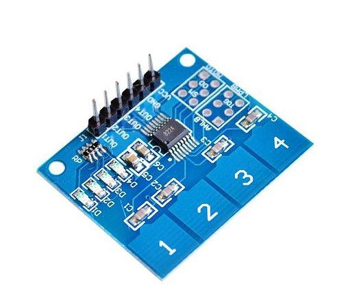Sensor de Toque Capacitico 4 Canais TTP224