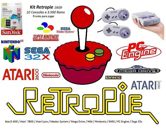 k11 - Mini Console SNES com 10 Video Games e 4000 Jogos e 2 Joysticks + HDMI