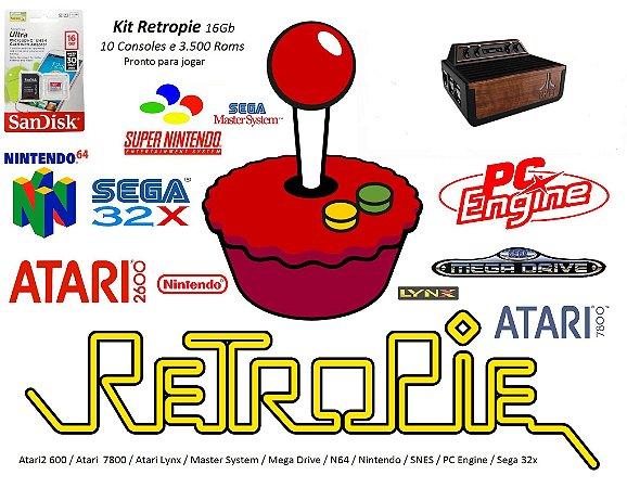 k15 - Mini Console ATARI com 11 Consoles e 4000 Jogos + Cabo HDMI