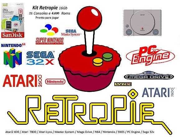 k18 - Mini Console PLAYSTATION com 11 Consoles e 4000 Jogos + Cabo HDMI