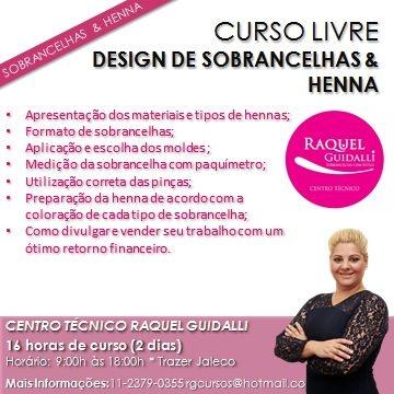 CURSO DE DESIGN DE SOBRANCELHAS  E HENNA