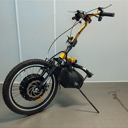 KIT LIVRE® - Pro 1000W amarelo com painel LCD no acelerador e coluna de direção e guidão amarelo 2 - SEMINOVO