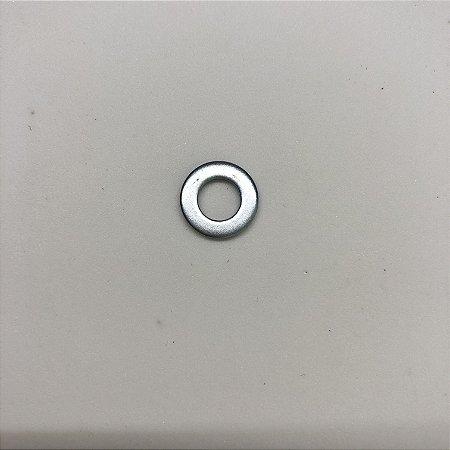 Arruela Lisa - Inox - Fina - Pequena - M06 - 6mm (10 Unid)