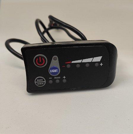 Display Led 36V - Painel Preto - com Botão - Potência 350W