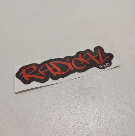 Etiqueta Adesiva com Película Plástica - Radical Hand (01 Unid)