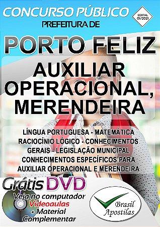 Porto Feliz - SP - 2021 - Apostilas Para Nível Fundamental, Técnico e Superior