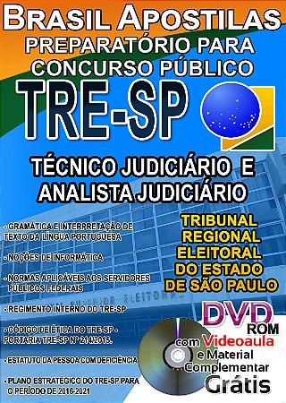 TRE - SP 2017 - Técnico Judiciário e Analista Judiciário - Apostila Preparatória
