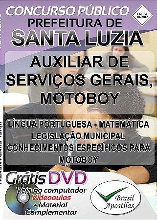 Santa Luzia - MG - 2017 - Apostila para Nível Fundamental, Médio e Técnico