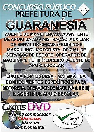 Guaranésia - MG - 2017 - Apostilas Para Nível Fundamental, Médio, Técnico e Superior