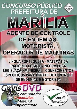 Marília - SP - 2017 - Apostilas Para Nível Fundamental, Médio e Superior