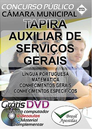 Tapira - MG - 2017 - Câmara Municipal - Apostilas Para Nível Fundamental, Médio e Técnico