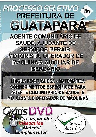 Guatapará - SP - 2017 - Apostilas Para Nível Fundamental, Técnico e Superior