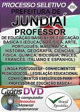 Jundiaí - SP - 2017 - Apostilas Para Professor e Diretor de Escola