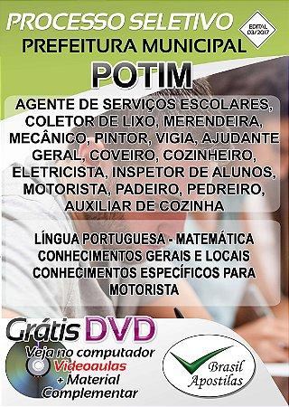Potim - SP - 2017/2018 - Apostilas Para Nível Fundamental, Médio, Técnico e Superior