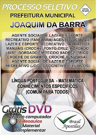 Joaquim da Barra - SP - 2017/2018 - Apostilas Para Nível Fundamental e Superior