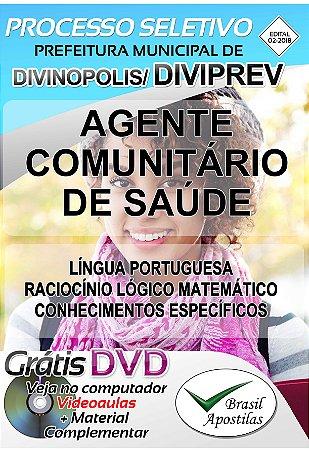 DIVIPREV - Divinópolis - MG - 2018 - Apostila Para Agente Comunitário de Saúde