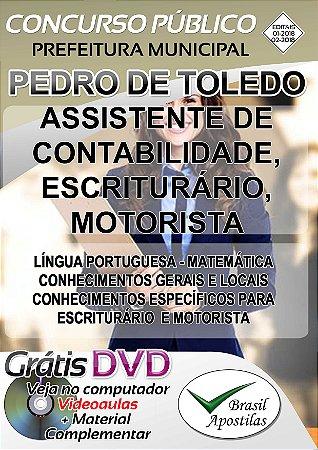 Pedro de Toledo - SP - 2018 - Apostila Para Nível Médio